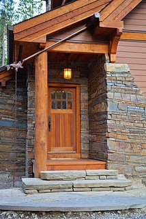 Love The Copper Rain Chain Cedar Door With Cedar Stoop