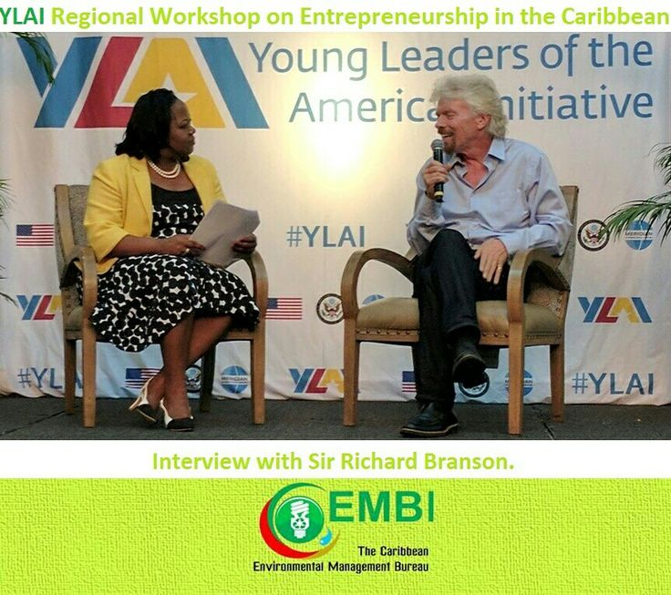 Regional Workshop on Entrepreneurship in the Caribbean. Sir Richard Branson and Chase Jarvis are this year's keynote speakers. Follow #YLAICarib for remarks and video from Caribbean entrepreneurs selected to attend the workshop including @SimeraCrawford our Managing Founder.~ Hosts and Partners: Young Leaders of the Americas Initiative - YLAI; U.S. Department of State; Meridian International Center; Atlas Service Corps; Branson Centre of Entrepreneurship - Caribbean; Entrepreneurs'…