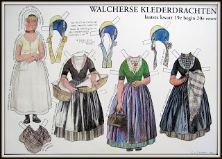 Walcherse klederdracht paper doll