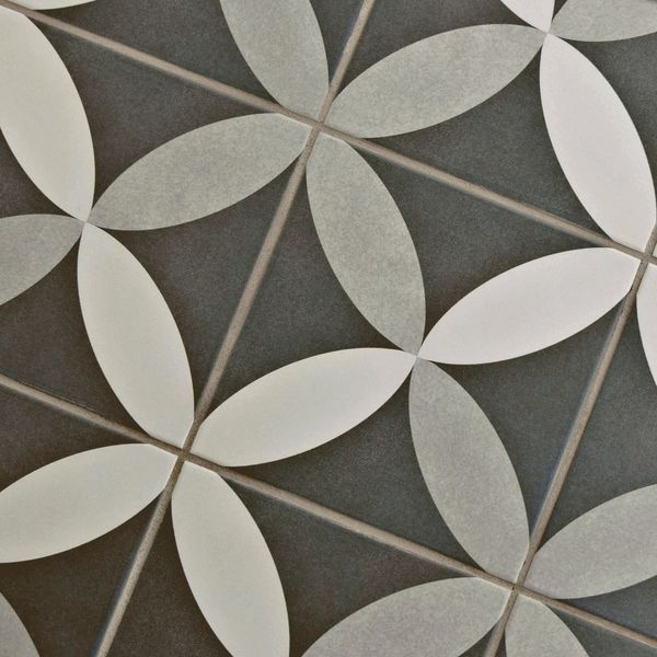 Somertile 7 75x7 75 Inch Thirties Petal Ceramic Floor And Wall Tile 25 Tiles 11 Sqft Wall Tiles Tiles Modern Flooring