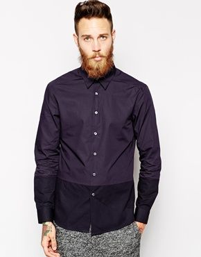 PS by Paul Smith Shirt with Colour Block Slim Fit. A staple for your smart/casual wardrobe. The colour block on this slim fit shirt adds a cool and individual touch  http://asos.to/1AghIkW