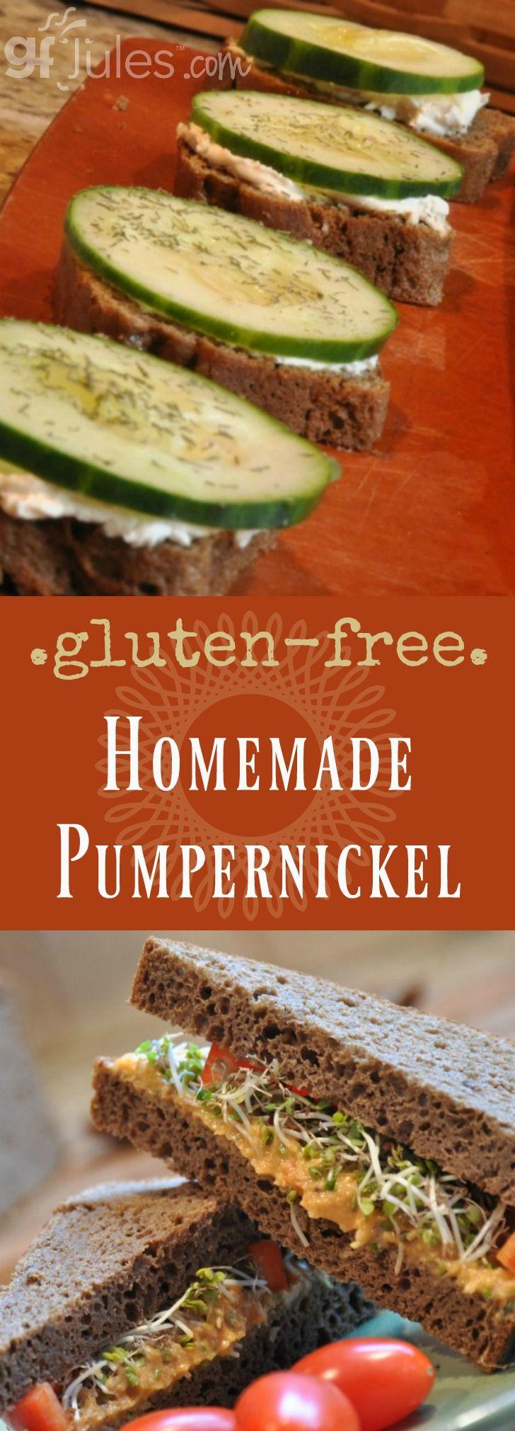 Homemade Gluten Free Pumpernickel Bread gfJules.com