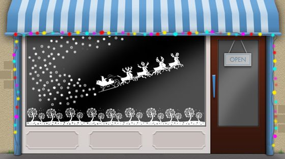 Christmas window ideas for your shop window display
