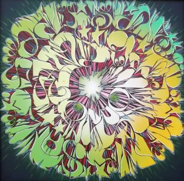 """Saatchi Art Artist Alberto Silva; Painting, """"The running canvas - Mixed subways."""" #art"""