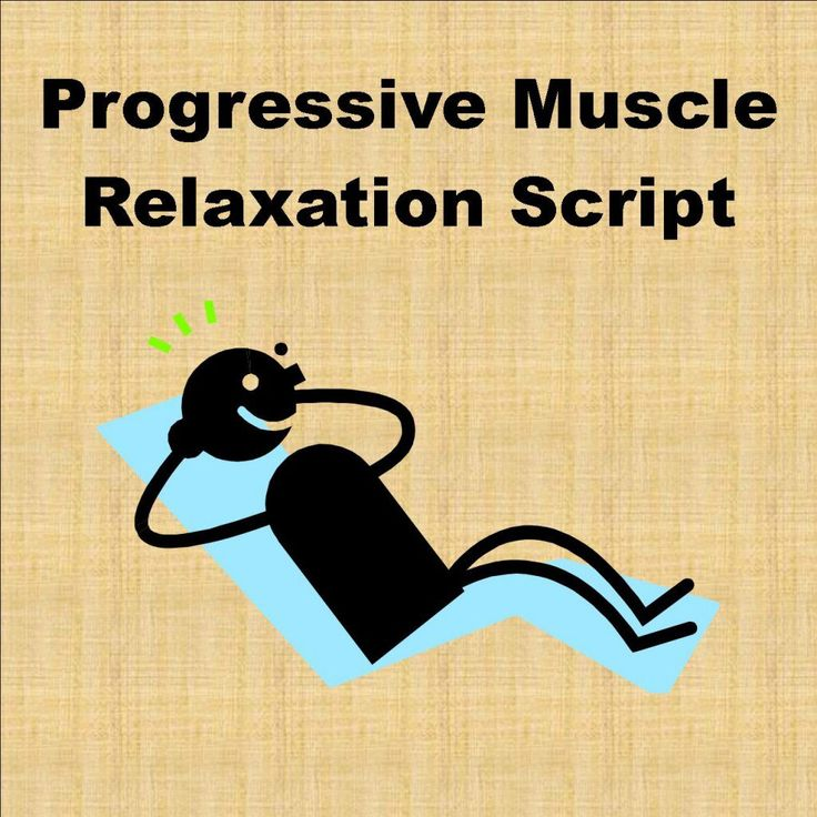 Progressive muscle relaxation teaches participants to notice tension in their bodies by tensing and releasing muscles in a particular order. This is a progressive muscle relaxation script example.