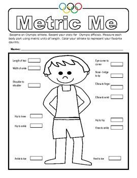 Metric Me is a measurement activity where students measure their body parts (in metric units of course) and record the measurements. This is a fun way to practice metric measurements of length as students measure the length of their hair, the width of their smile, and more. #mathlessons