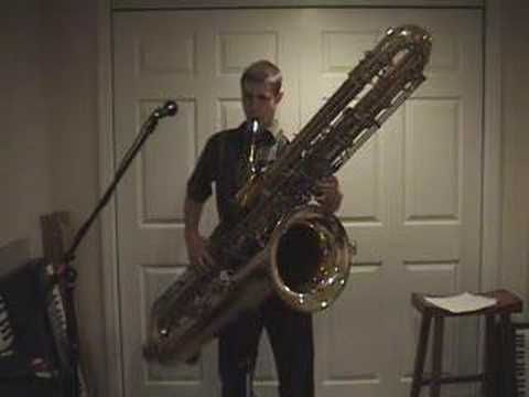 Contrabass Saxophone. Can you march with this thing?
