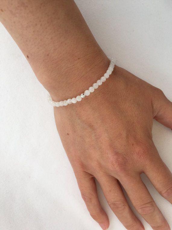Rainbow Moonstone bracelet with Sterling silver genuine