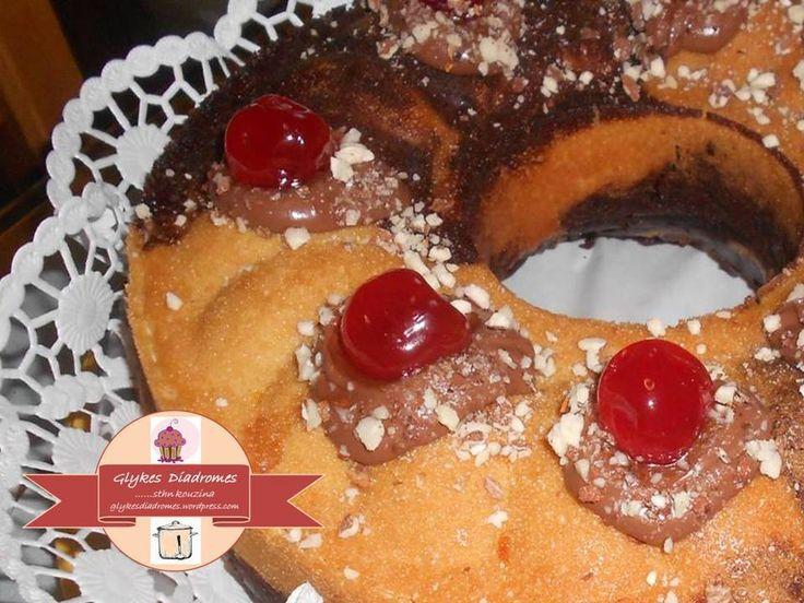 Κέικ μαρμπρέ (marbré), κακάο - πορτοκάλι