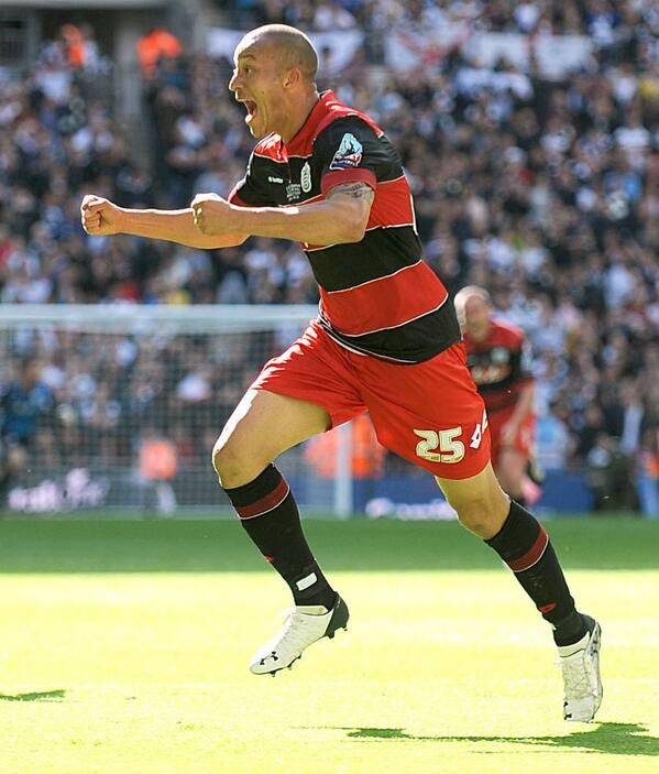 OH Bobby Zamora! Scored the late play-off final goal to see QPR past Derby County at Wembley May 24th 2014