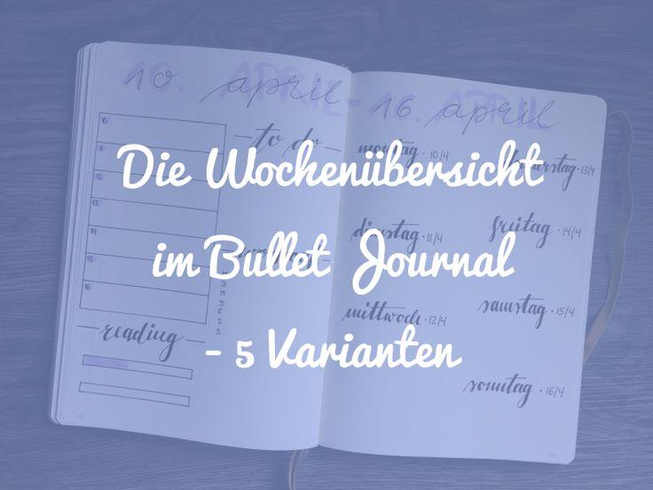 In diesem Post stelle ich dir die Wochenübersicht des Bullet Journals vor und zeige einige Beispiele, wie du sie gestalten kannst.