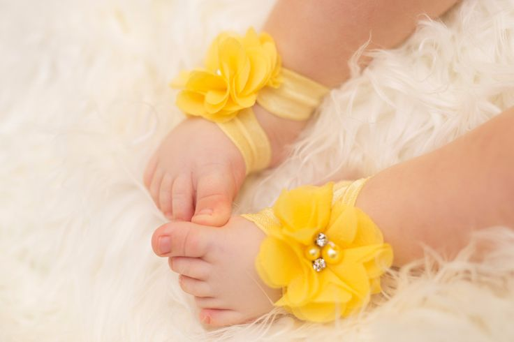 Baby Barefoot Sandals - Yellow