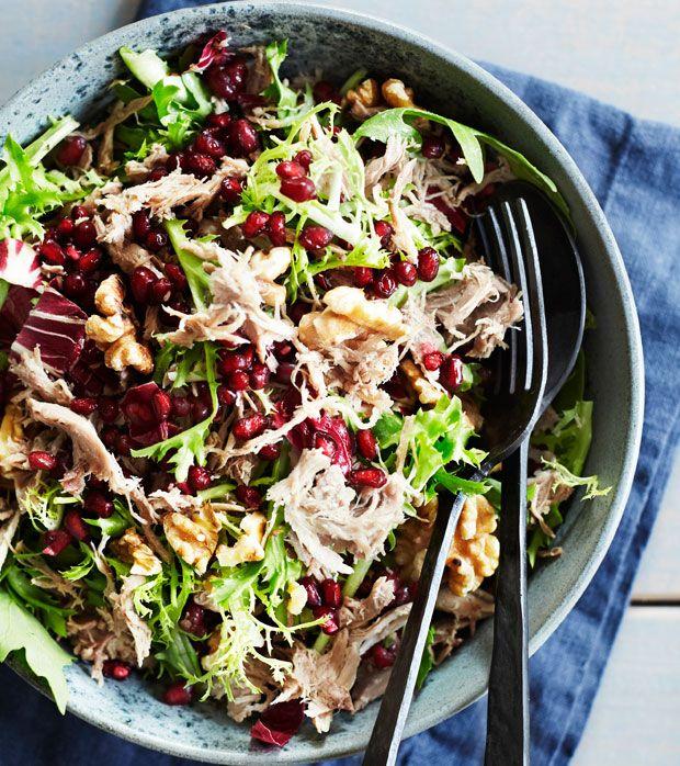 Grøn salat med anderilette