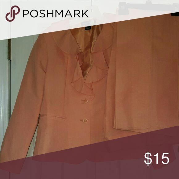 Pants Suit Peach pants Suit, freshly dry cleaned. Margaret frances Jackets & Coats Blazers