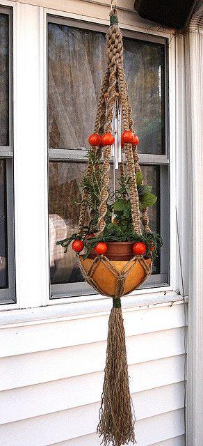 Macrame plant hanger fiesta porta macetas colgantes - Porta macetas colgantes ...