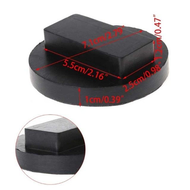 Free Delivery Black Car Rubber Jack Pads Tool Jacking Pad Adapter