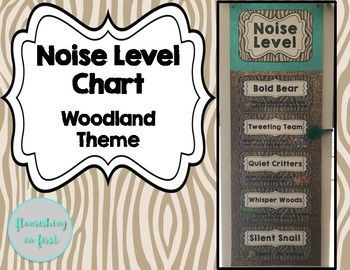 Noise Level Chart - Woodland Theme - Flourishing in First - TPT