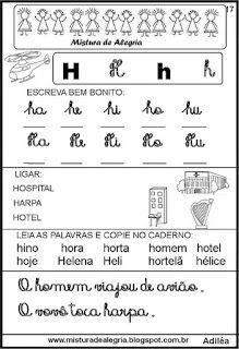 Livro famílias silábicas-letra H