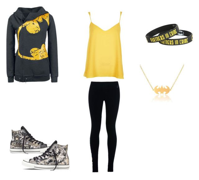 """""""Batman"""" by hayleybanks on Polyvore featuring River Island, Converse and NIKE"""