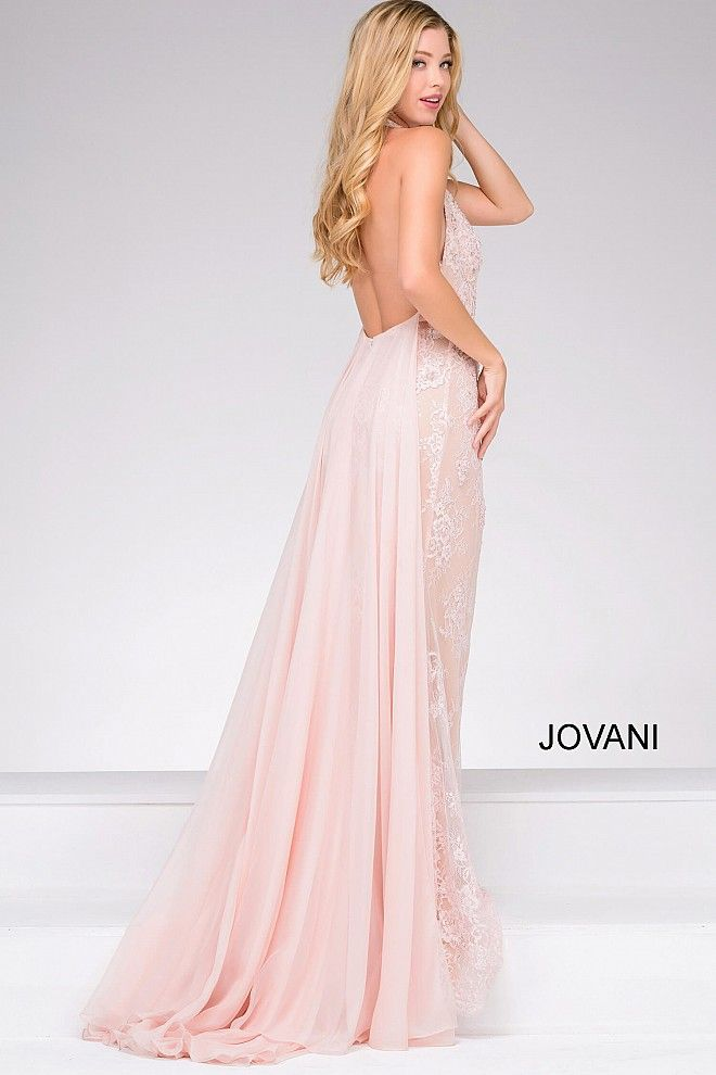 3bb8fafd1d2 Pink Fitted Lace Embroidery Prom Dress 45727