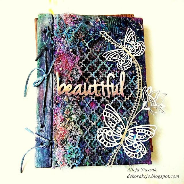 mixed media cover notebook