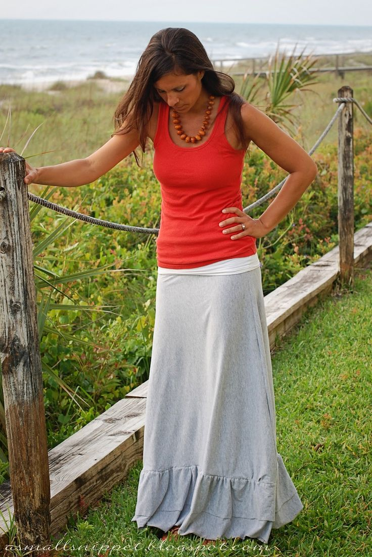 from Sheet to Maxi Skirt | A Small Snippet
