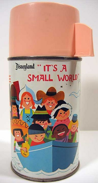 It's A Small World Thermos Mary Blair Art