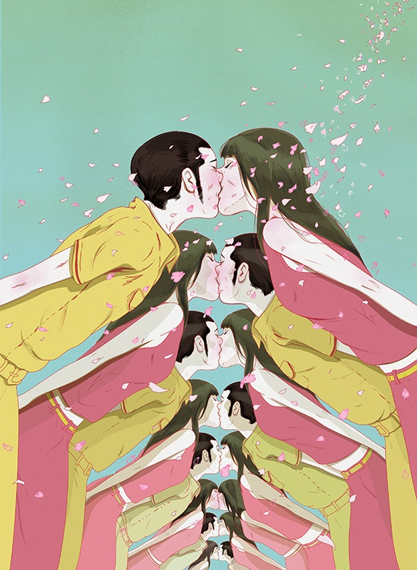 Odoyo x Marcos Chin iPhone Cases by Marcos Chin, via Behance: Graphic Design, Marcoschin, Kiss, Inspiration, Illustrations, Color, Art, Editorial Illustration