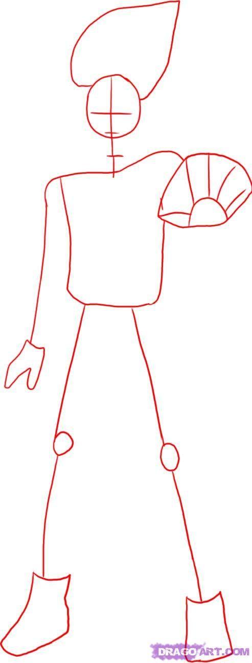 how to draw kakashi hatake from naruto step 1