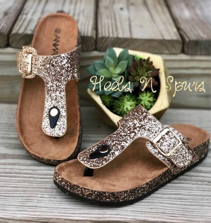 Glitzy Rose Gold Sandals