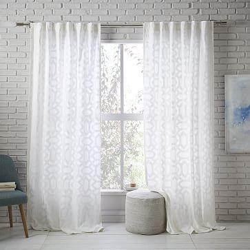 Sheer Lattice Curtain #westelm