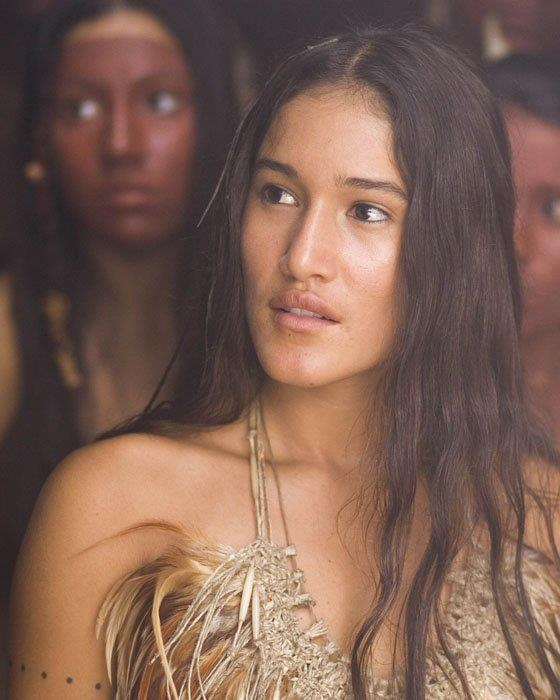 Indigenous Activist Q'Orianka Kilcher, she's unique