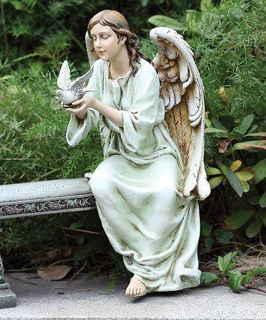 Loving this Seated Angel Garden Statue on #zulily! #zulilyfinds