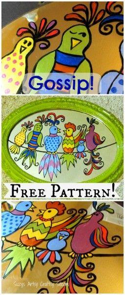 Want a little gossip? Free downloadable pattern!
