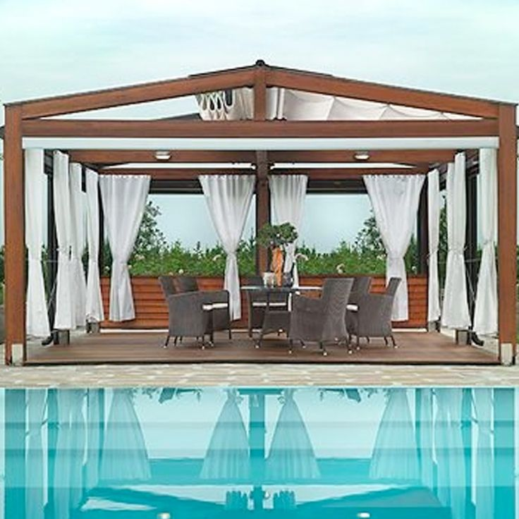 Custom retractable awning with images modern gazebo