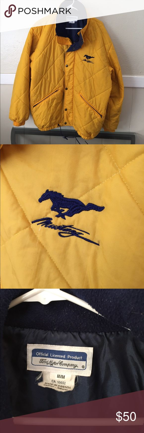 Ford Mustang jacket Ford Mustang jacket yellow and blue Ford motor company Jackets & Coats