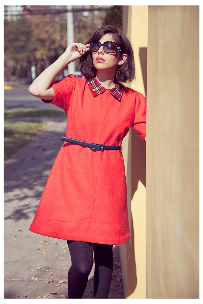 Red wool dress <3
