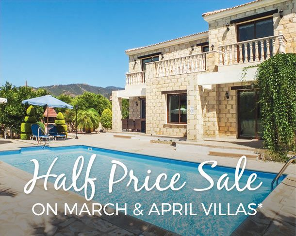 James Villa Half Price Sale For March & April. There's even a selection of villas for the Easter holidays with 50% off if you fancy spending the school break in the sun.