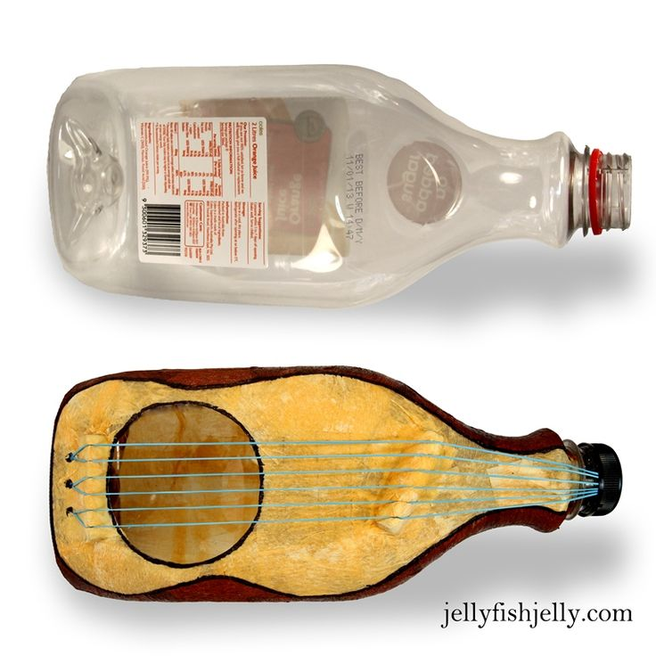 DIY plastic bottle guitar