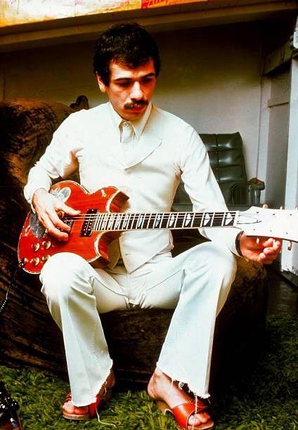 Carlos Santana Mexican guitarist of jazz rock and Latin rock Madrid Spain