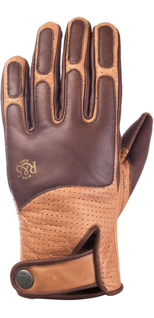 RIDE&SONS Lord Leather Gloves Camel / Brown