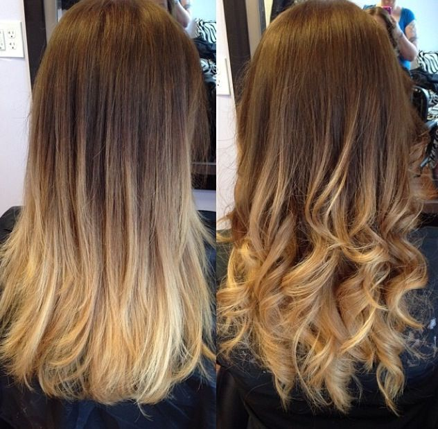 Ombre hair | Hair | Pinterest | Wavy hairstyles, Blonde ombre hair and ...