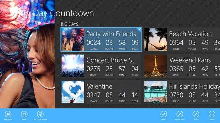 Download now to count you special days...