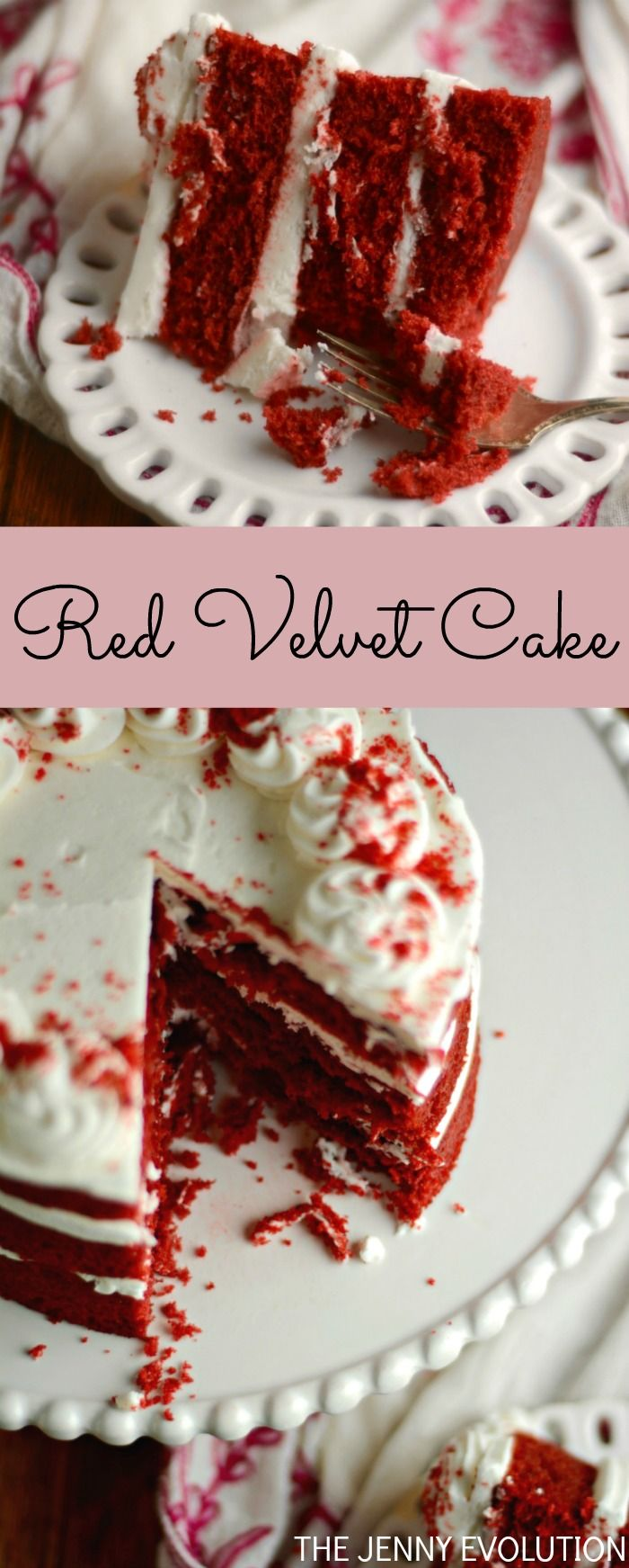 Best Red Velvet Cake Recipe. You're going to melt over the velvety smoothness of this cake and cream cheese frosting!!!