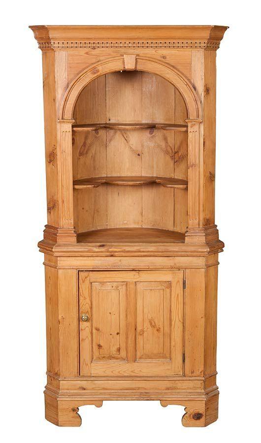 Pine Antique Corner Cabinet