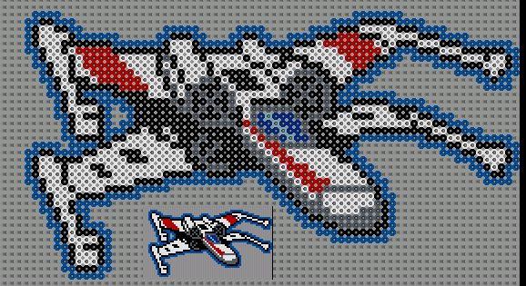 pixel art x wing