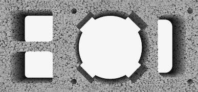 Komin z potrójną wentylacją Wymiar zewnętrzny: 36x76 cm Średnica wkładu (cm): 16 (waga 212 kg/mb) 18 (waga 214 kg/mb) 20 (waga 216 kg/mb) Wymiar otworu wentylacyjnego: 1x24,5x11 cm 2x16x12,5 cm