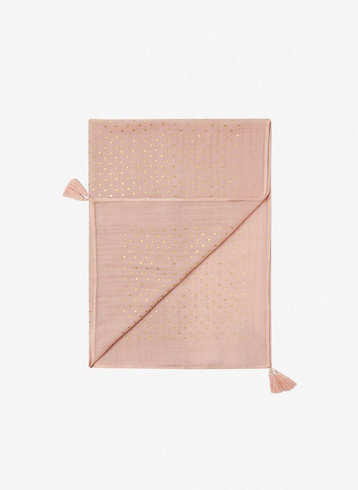 Uterqüe España Product Page - Complementos - Pañuelo lana topos - 49