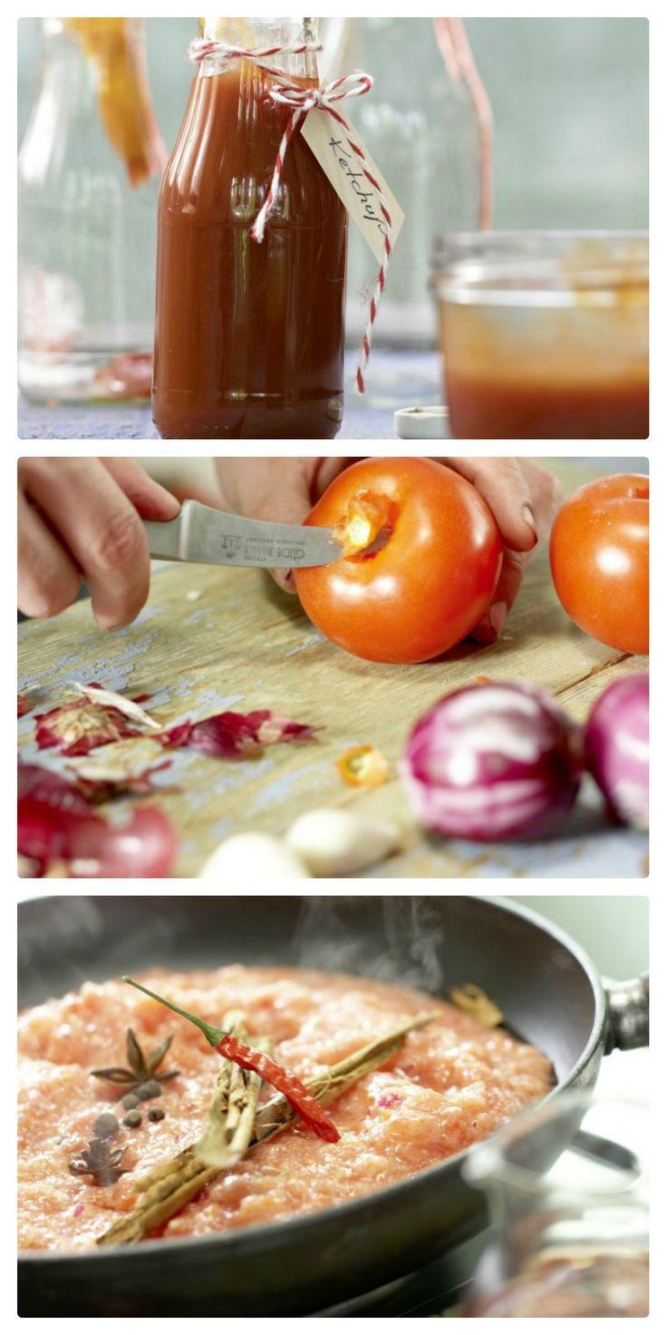 Einfach unwiderstehlich zu Gegrilltem, Gebratenem, zu Eiern und vielem mehr: Tomaten-Ketchup (Grundrezept) | http://eatsmarter.de/rezepte/tomaten-ketchup