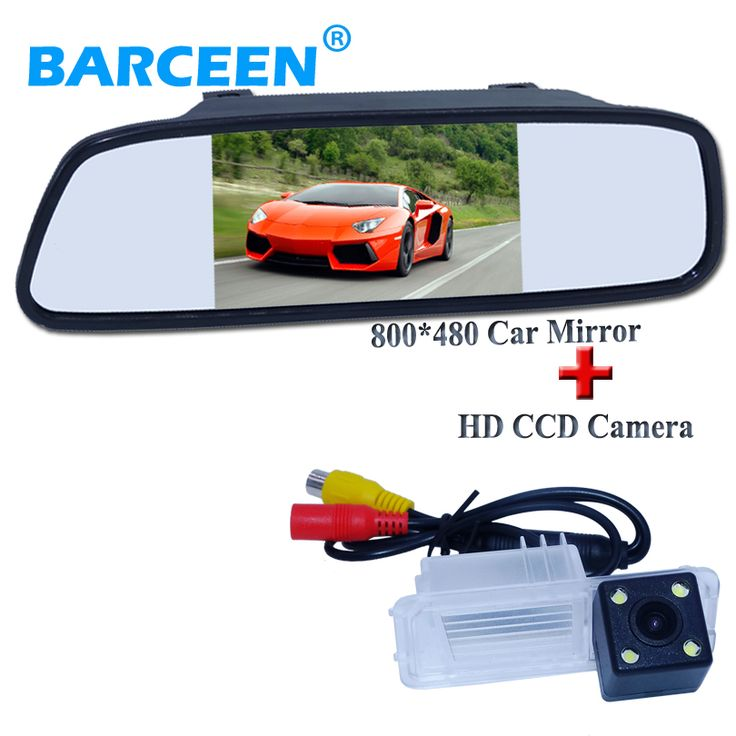 100% high quality 4 LED camera for car rear view camera  for Volkswagen GOLF 6 /Magotan +universal car mirror monitor 5 inch